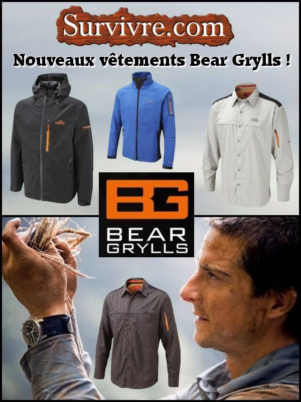 Arrivage de vêtements Bear Grylls Newsletter-Vetements-BG